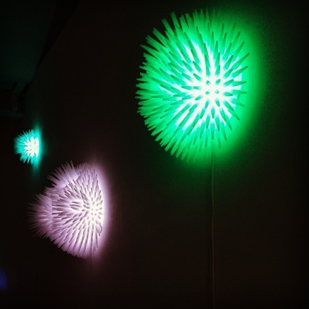 Jemimah Dodd, Globelight 2014 install, 'Silicone Nozzle' lights 2013